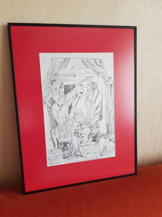 Tuș realizat de artistul Florin Petrachi