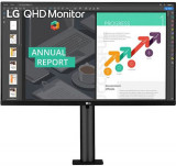 Monitor IPS LED LG 27inch 27QN880-B, QHD (2560 x 1440), HDMI, DisplayPort, Boxe (Negru)