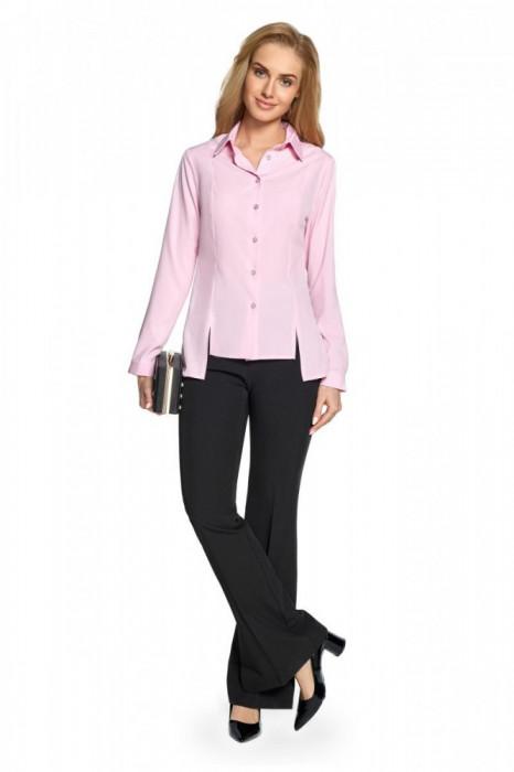 Camasa roz de lungime asimetrica
