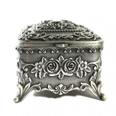 Caset? de bijuterii din antimoniu - Motive Florale - WZ4205 foto