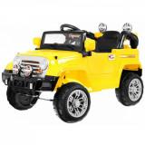 Masinuta electrica Jeep Malipen, comenzi sonore volan, galben
