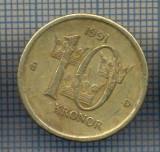 AX 1120 MONEDA - SUEDIA - 10 KRONOR -ANUL 1991 MEDAL -STAREA CARE SE VEDE, America Centrala si de Sud