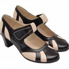 Pantofi dama casual din piele naturala foarte comozi - P13NBEJ
