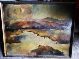 Tablou Imre Hajos, Peisaje, Ulei, Impresionism