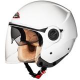 Cumpara ieftin Casca moto scuter SMK COOPER WHITE GL100 culoarea alb, marimea L unisex