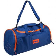 Geanta sport de voiaj, 54x26x25 cm , albastru/portocaliu , 30 litri
