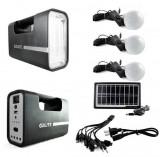 Kit Solar cu Lampa U, USB, 3 Becuri 6V 4Ah GDLite1