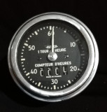 Jaeger Franța Ceas de bord anii 30 12V pentru măsurarea orelor de funcționare
