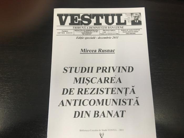 Studii privind mișcarea de rezistență anticomunistă din Banat