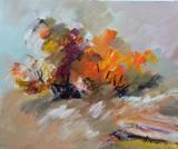 Tablou ulei (25/30 )-TOAMNA, Flori, Impresionism