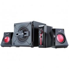 Boxe genius 2.1 sw-g2.1 1250 38w(subwoofer 20w+2 sateliti*9w) negru gaming