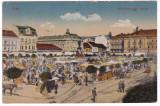 #2465- Romania, Arad carte post. 1918 circulata 1923: Piata (Szabadsag), anim