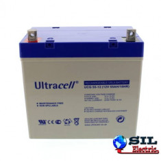 Acumulator plumb acid cu gel Ultracell 12V55AH