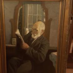 """Tablou George Catargi - """"Lectura"""", Portrete, Ulei, Altul"""