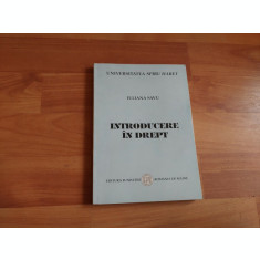 INTRODUCERE IN DREPT-IULIANA SAVU