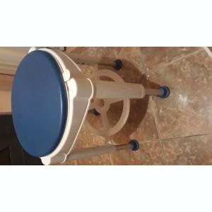 Scaun de baie rotativ Ridder, inaltime reglabila, albastru
