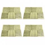 VidaXL Plăci de pardoseală, 24 buc., verde, 50 x 50 cm, lemn
