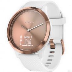 Smartwatch Vivomove HR Roz Auriu Si Curea Alba, Garmin