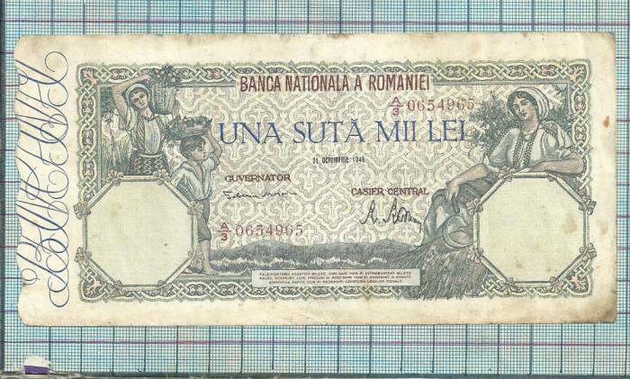 Bancnota 100000 lei 1946 seria A/3 956
