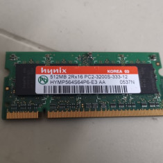 Ram Laptop Hynix 512MB DDR2 PC2-3200S HYMP564S64P6-E3