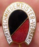 I.813 INSIGNA GERMANIA STICKPIN Württemberg Schmiedemeister Verband h18mm email