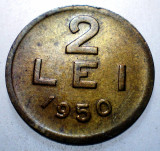 1.239 ROMANIA RPR 2 LEI 1950 BATERE DUBLA 5 1950