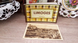 Set de carti postale in fascicul cu Limoges (Franta), anii 1940, Fotografie, Europa