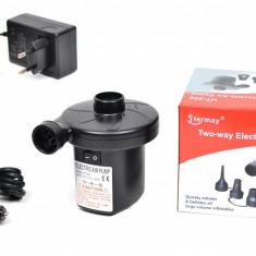 Pompa electrica umflat si dezumflat saltele, piscine, colace, 12V / 220V - HT202