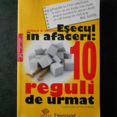 DONALD R. KEOUGH - ESECUL IN AFACERI: 10 REGULI DE URMAT