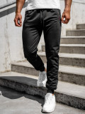 Pantaloni de trening negri bărbați Bolf CE002