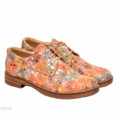 Pantofi dama colorati lucrati manual din piele naturala cod P157 Picasso