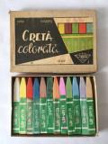 CRETA COLORATA PIONIER veche, romaneasca, 12 culori, anii '70, Ladeasa, colectie