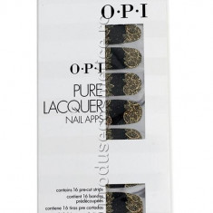 Pachet 16 Abtibilduri Pentru Unghii OPI Pure Lacquer Gold Lace
