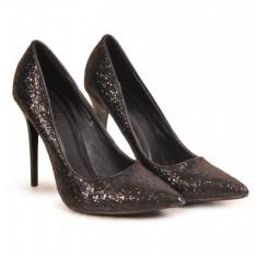 CH2253-1 Pantofi negrii cu paiete