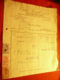 Factura cu Antet Firma Oscar Porzsolt SAR - Depozit mat. electrice 1943 , 3 timb
