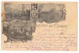 1393 - TURNU SEVERIN, Market, Harbor, Litho, Romania - old postcard - used  1899