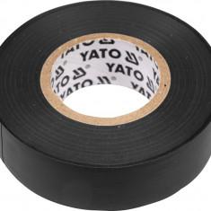 Banda electroizolanta PVC 19 mm x 20 m x 0.13 mm neagra YATO