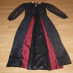 costum carnaval serbare rochie medievala regina contesa pentru adulti marime S-M