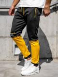 Pantaloni de trening barbati cu imprimeu negru Bolf AM85