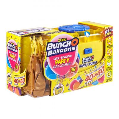 Set petrecere Bunch O Balloons cu 16 baloane si pompa - Gold foto