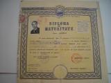 Diploma de maturitate RPR, 1960, stare buna