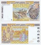 1993, 1.000 francs (P-711 Kc) - Africa Occidentală - Senegal ( K ) - stare UNC!