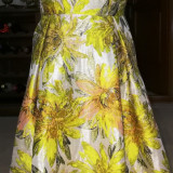 Rochie de gala, multicolora, predominant galbena, 38, Galben