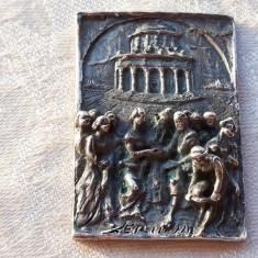 TABLOU argint SEMNAT splendid VECHI manopera EXCEPTIONALA de colectie UNICAT