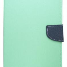 "Husa tip carte Mercury Goospery Fancy Diary verde deschis + bleumarin pentru Samsung Galaxy Tab 4 (SM-T230), Tab 4 LTE (SM-T235) 7"""