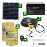 Pachet gard electric cu Panou solar 2,5J putere și 2000m Fir 160Kg