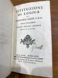 Instituzioni di Logica Metafisica ed Etica - Francesco Soave 1793 second edition
