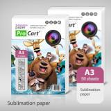 Cumpara ieftin Set 50 coli sublimare A3 100g personalizare tricouri, ProCart