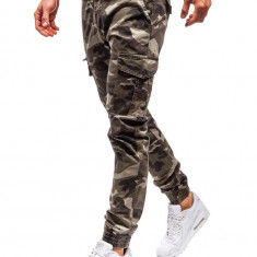 Pantaloni joggers cargo bărbat kaki Bolf 5398