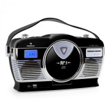 Cumpara ieftin Auna Radio portabil Retro Vintage RCD-70 culoare neagră